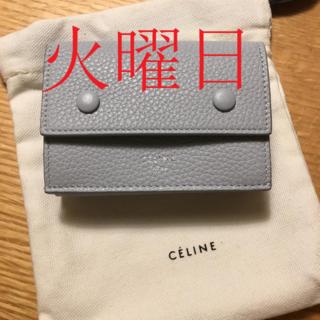 celine - セリーヌ CELINE 三つ折り財布 スモール フラップウォレット バイカラー