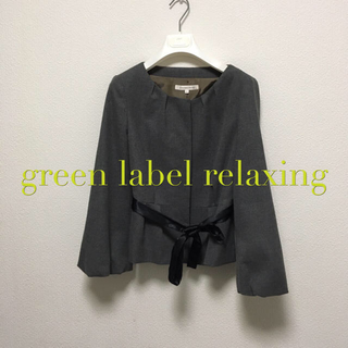 green label relaxing - green label relaxing ノーカラージャケット