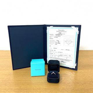 Tiffany & Co. - 美品 ティファニー ソリティア ダイヤリング Pt950 指輪 ☆カルティエ
