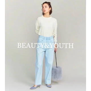 BEAUTY&YOUTH UNITED ARROWS - ☆BEAUTY&YOUTH☆ビューティアンドユース  ブリーチデニムワイドパンツ