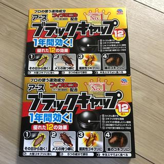 アースセイヤク(アース製薬)のゴキブリ駆除剤 ブラックキャップ2箱セット(日用品/生活雑貨)