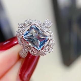 アクアマリンダイヤモンドリングk18