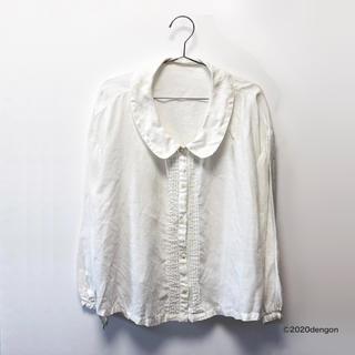 ネストローブ(nest Robe)の【未使用】Nest Robe ネストローブ リネンジャケット ホワイト(シャツ/ブラウス(長袖/七分))
