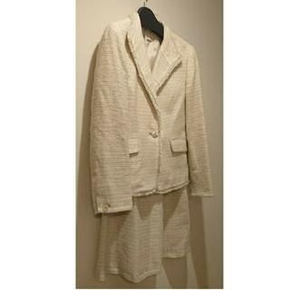 エニィスィス(anySiS)のオンワード エニィスィス ツイードスーツ 白入学式 七五三(スーツ)