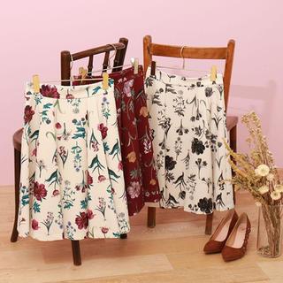 PROPORTION BODY DRESSING - プロポーション 新品 花柄 フラワープリントフレアースカート