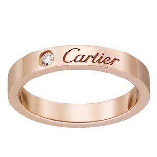 Cartier - カルティエ エングレーブドリング 1P ピンクゴールド