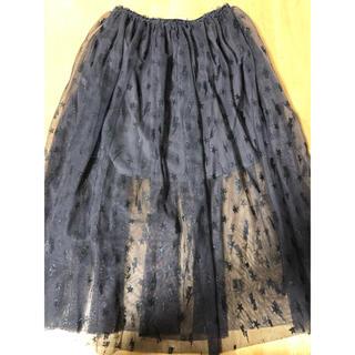 ZARA KIDS - ZARA girl サイズ7 122cm 黒チュールスカート 花柄スカート