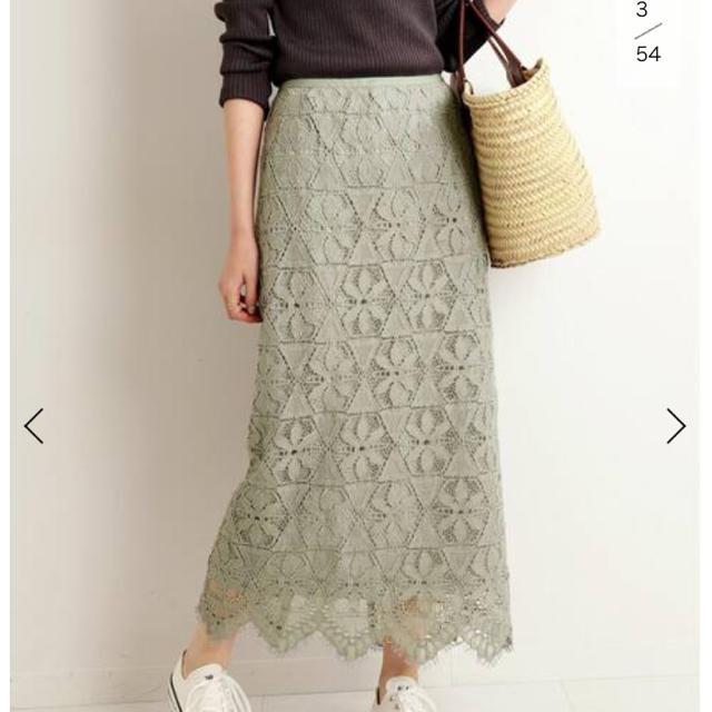 IENA(イエナ)のイエナ  レースタイトスカート グリーン40 レディースのスカート(ロングスカート)の商品写真