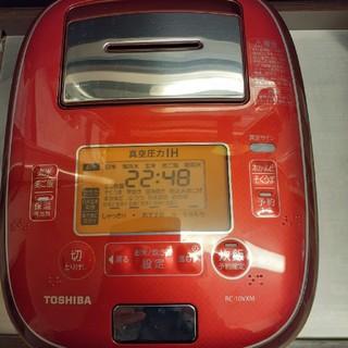 東芝 - 東芝 真空圧力IHジャー炊飯器(5.5合炊き) ディープレッドRC-10VXM
