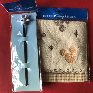 Disney - タオルハンカチと耳かきのセット