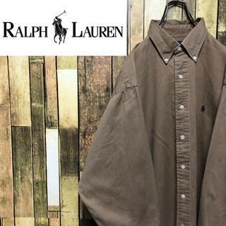 Ralph Lauren - 【激レア】ラルフローレン☆ワンポイント刺繍ロゴBDビッグチノシャツ 90s