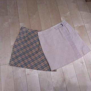 バーバリーブルーレーベル(BURBERRY BLUE LABEL)のBURBERRYブルーレーベル スカート2着(ミニスカート)