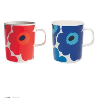マリメッコ(marimekko)のマリメッコ マグカップ 2個セット ウニッコ柄 marimekko(グラス/カップ)