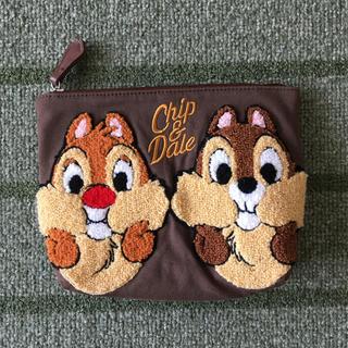 Disney - チップとデール さがら刺繍ポーチ 未使用