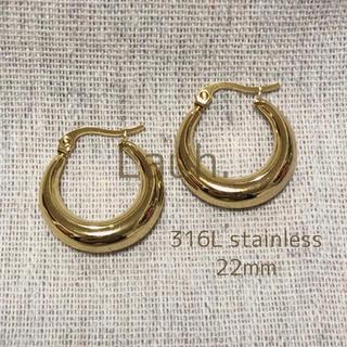 nano・universe - j301.plump hoop pierce(gold)