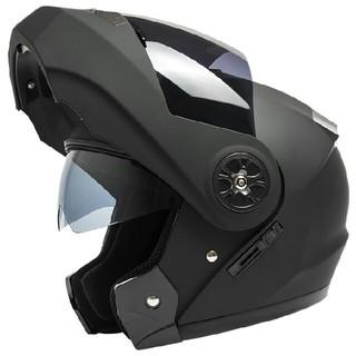 艶消し黒 フルフェイス バイクヘルメット ダブルシールド付き 新品