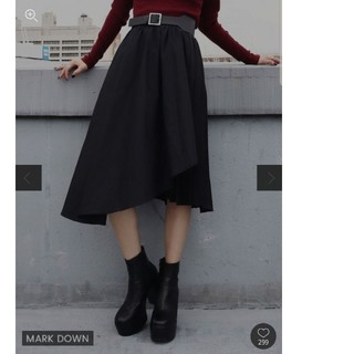 EMODA - ミディプリーツラップスカート