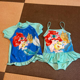 Disney - 美品!ディズニー アリエル 水着  ラッシュガード 女の子 100センチ