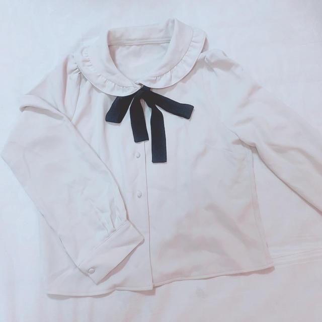 evelyn(エブリン)のフリル襟付き リボンブラウス レディースのトップス(シャツ/ブラウス(長袖/七分))の商品写真