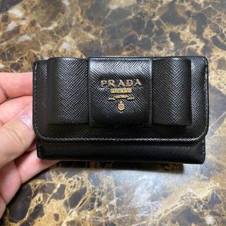 PRADA - PRADA プラダ キーケース リボン バッグ 財布