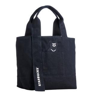 スターバックスコーヒー(Starbucks Coffee)のトートバッグ 黒熊 熊 ベアリスタ エコバッグ 台湾スターバックス 鞄 ポーチ(トートバッグ)