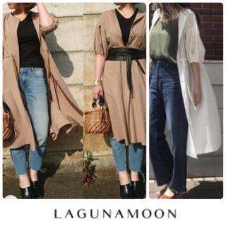ラグナムーン(LagunaMoon)の新品LAGUNAMOON/ラグナムーン フレアーロングシャツワンピースS(ロングワンピース/マキシワンピース)