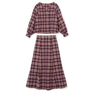 GRL - 【GRL】チェックブラウス × マーメイドスカート セットアップ