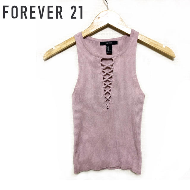 FOREVER 21(フォーエバートゥエンティーワン)のforever21 ♡ ニットノースリーブ レディースのトップス(ニット/セーター)の商品写真