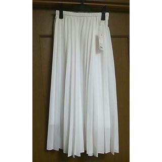 UNIQLO - 新品タグ付き★Sサイズ★白ホワイト★ユニクロ★プリーツロングスカート
