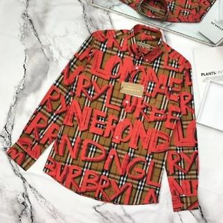 BURBERRY - [赤い] メンズ長袖 バーバリー メンズシャツ