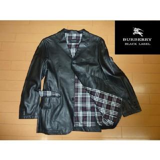 【未使用】BURBERRY ブラックレーベル 羊革ジャケット(M)黒☆★