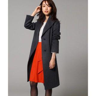 UNTITLED - 百貨店購入 UNTITLEDアンタイトル 特別仕様の全色完売レア品コート濃グレー