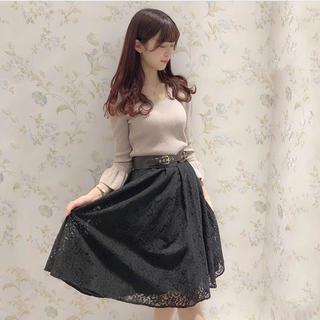 evelyn - 2020完売品♡新品未使用♡ レースミドルフレアスカート