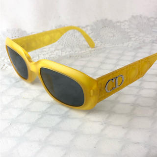 クリスチャンディオール(Christian Dior)の❤セール❤ ディオール サングラス メガネ UVカット レディース メンズ 黄色(サングラス/メガネ)