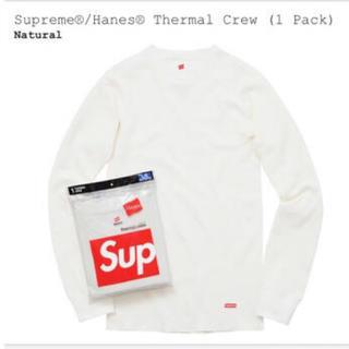 シュプリーム(Supreme)のsupreme hanes thermal long sleeve tee xl(Tシャツ/カットソー(七分/長袖))