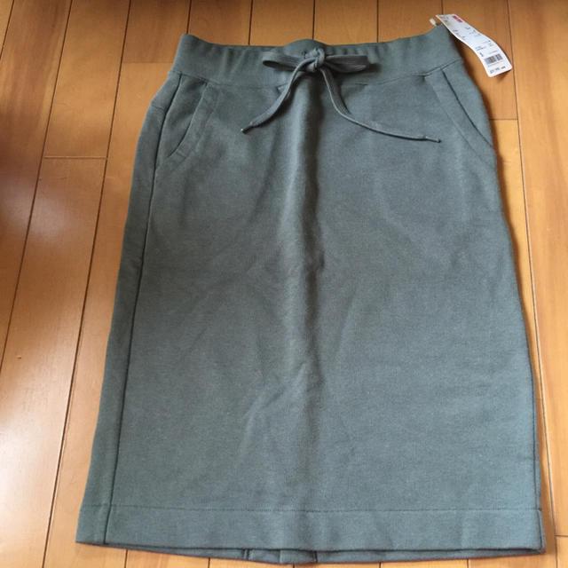 UNIQLO(ユニクロ)の未使用タグ付き ユニクロ スウェットスカート レディースのスカート(ひざ丈スカート)の商品写真