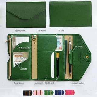 【新品】パスポート ケース 多機能 財布 小銭入れ カード入れ マルチケース(パスケース/IDカードホルダー)