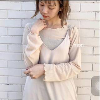 Kastane - カスタネ♡メッシュ編み楊柳プルオーバー♡エクリュ