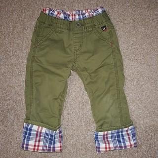 DOUBLE.B - ミキハウス ダブルビー カーキ 折り返し付 長ズボン パンツ 100