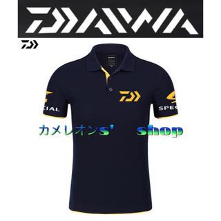ダイワ(DAIWA)の①Daiwa ダイワ ポロシャツ  ネイビー/イエロー  Lサイズ(ウエア)