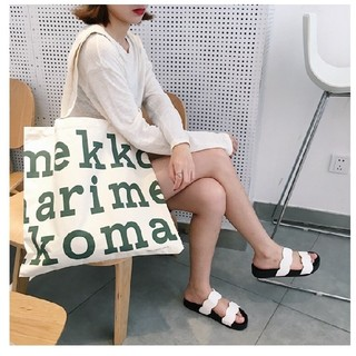 marimekko - 残り僅か即発送❤緑色 マリメッコ トートバッグ ロゴ
