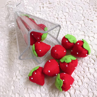 フェルトおままごと/赤苺12個