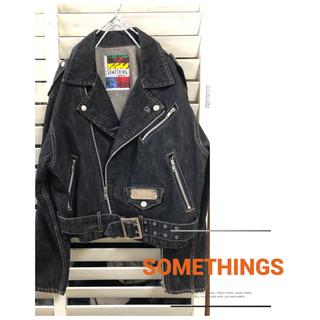 サムシング(SOMETHING)のSOMETHING / 90's デニムライダースジャケット(Gジャン/デニムジャケット)