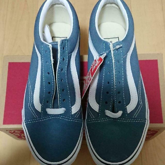 VANS(ヴァンズ)のバンズ オールドスクール ストーンブルー 23cm 新品 レディースの靴/シューズ(スニーカー)の商品写真