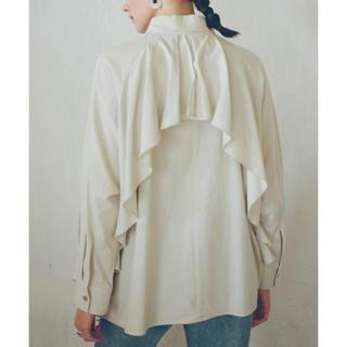CLANE  バッグフリルシャツ 新品未使用 アイボリー 完売品