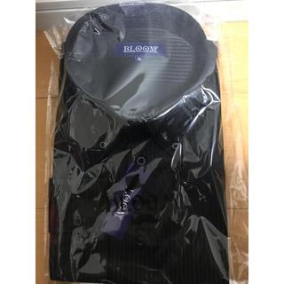 黒 ストライプ ワイシャツ 4L