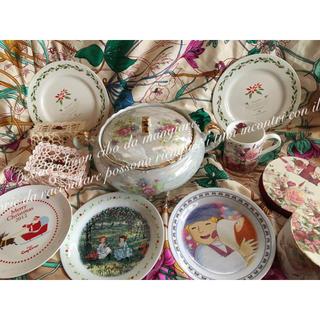 ビンテージ スープ ポット 西欧 洋風 食器 クリスマス 薔薇 マグカップ バラ(食器)