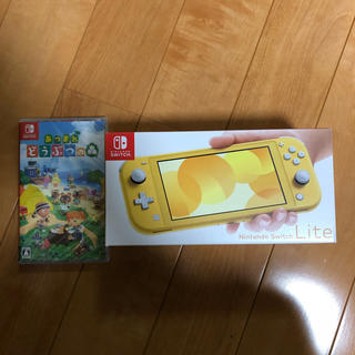 Nintendo Switch - 新品 任天堂スイッチ LITE イエロー どうぶつの森ソフトセット switch