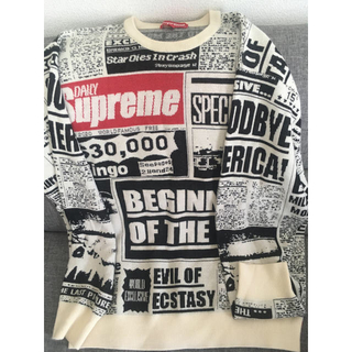 Supreme - supreme 18fw Newsprint sweater
