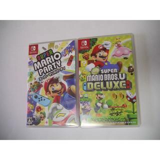 ニンテンドースイッチ(Nintendo Switch)のスーパーマリオパーティ+NEWスーパーマリオブラザーズUデラックス  美品(家庭用ゲームソフト)